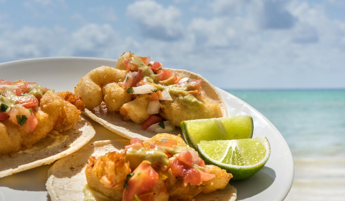 Tacos on beach