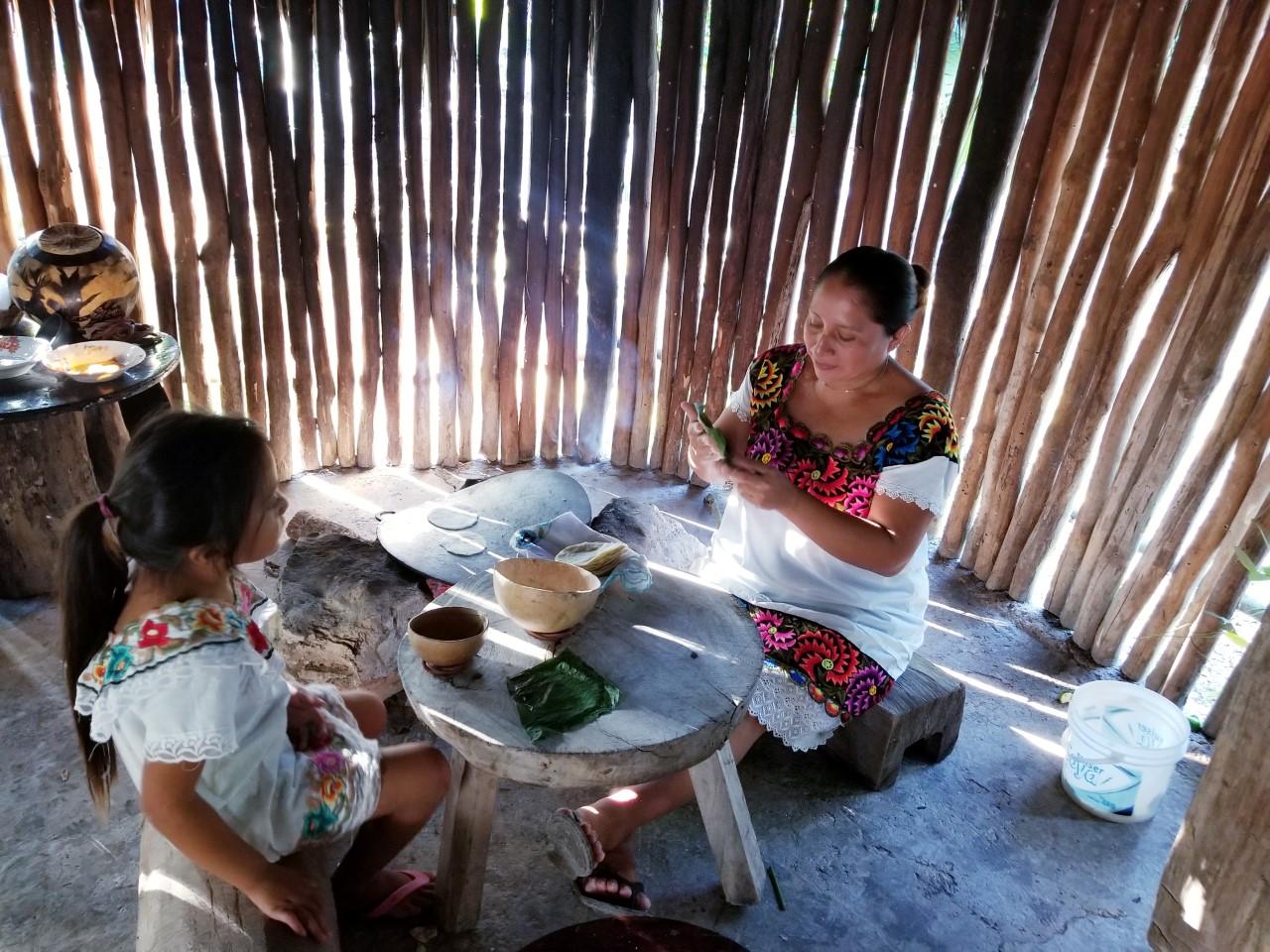 Mayan village kitchen