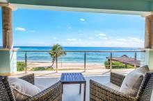 luxury villa beachfront balcony