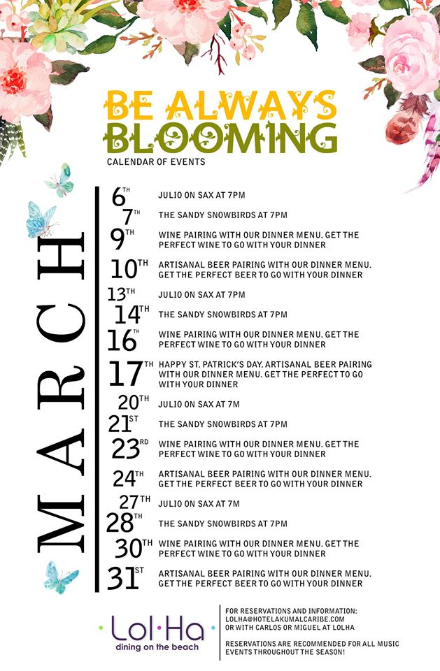 March events at Lolha
